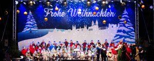 Bühnenbild beim Weihnachtssingen Magdeburg