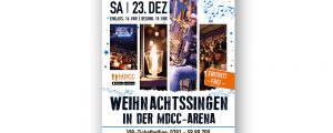 Plakat zum Magdeburger Weihnachtssingen 2018