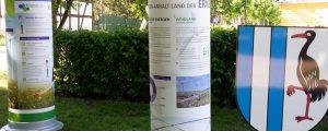 Litfasssäule auf der Landesgartenschau 2018 in Burg