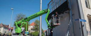 lumo matrix LED-Wand - Montagearbeiten an der LED-Wand