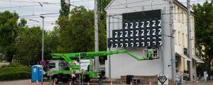 lumo matrix LED-Wand - kurz vor der Fertigstellung