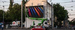 lumo matrix LED-Wand - letzte Arbeiten und Einrichten an der LED-Wand