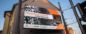 lumo matrix LED-Wand - erster Testlauf der fertigen LED-Wand