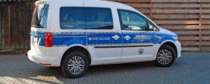 VW Caddy nach der Folierung von der Seite