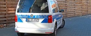 VW Caddy nach der Folierung von hinten
