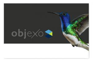 Objexo-Visitenkarte von hinten