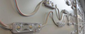 LED-Leuchten einer Spanntuchanlage